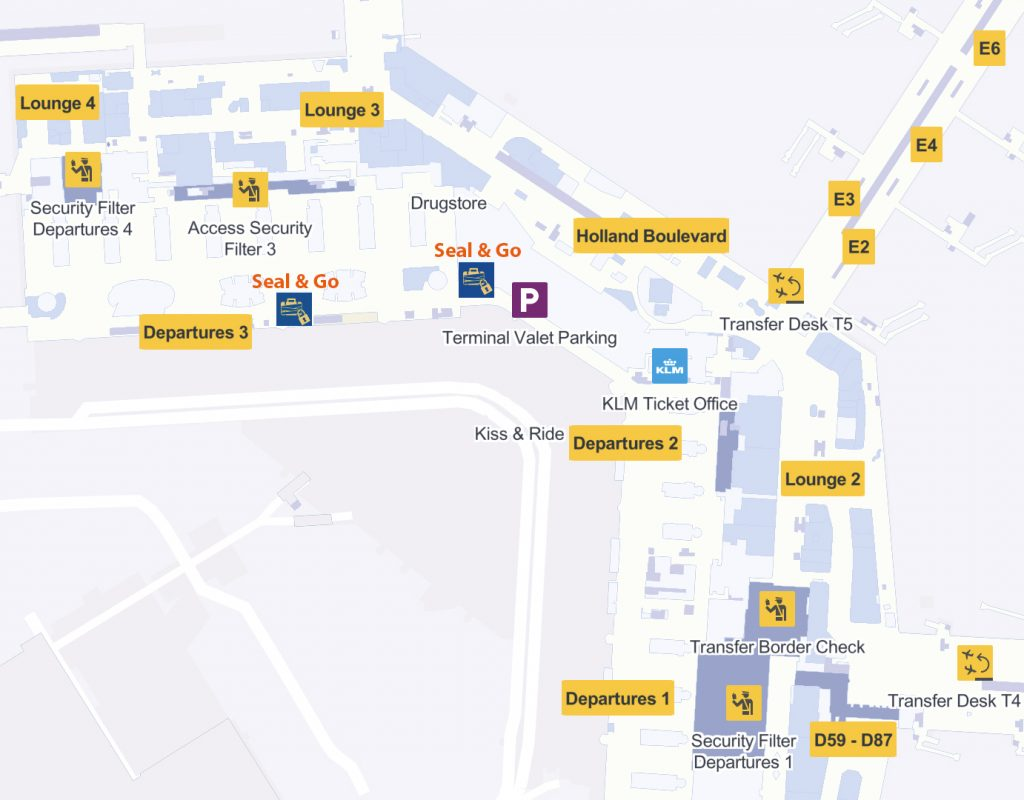 Airport Map AMS