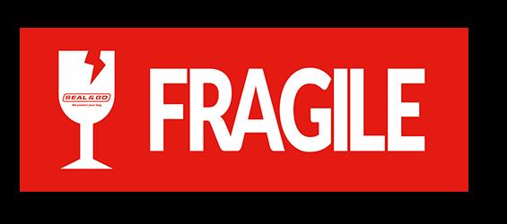 Fragile sticker bagage